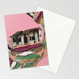 desconstruction house Stationery Cards