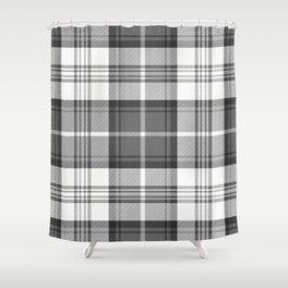 Black White Tartan Shower Curtain