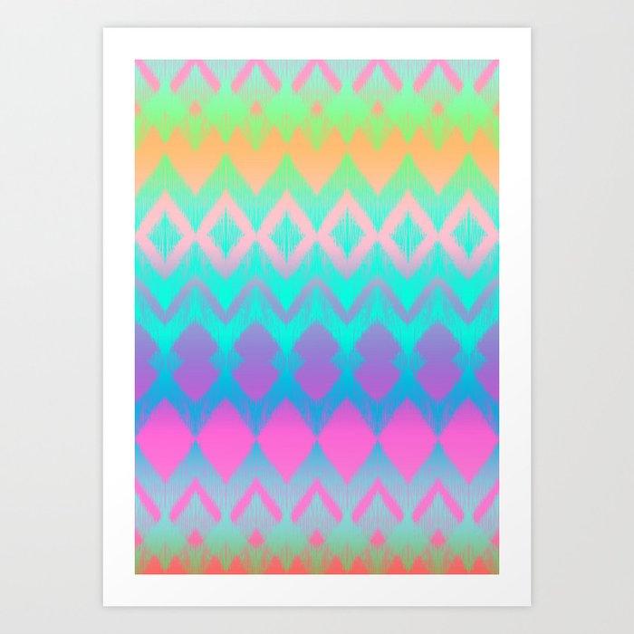 Rainbow Ikat Kunstdrucke