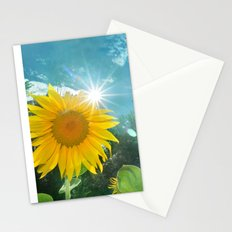 Sunflower. Vintage Stationery Cards