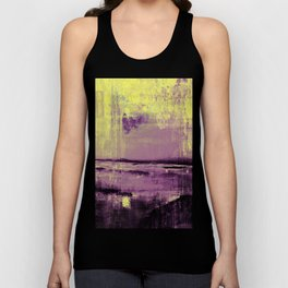Yellow Color Patches Unisex Tank Top