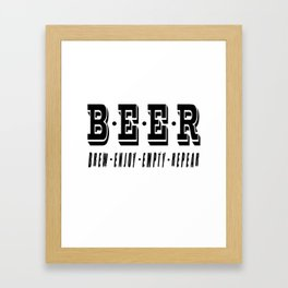 b.e.e.r   - I love beer Framed Art Print