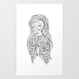 Princess of Death Art Print