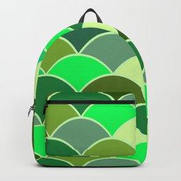 Modern Waves Graphic Design - green  Backpack