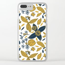 Autumn flowers Clear iPhone Case