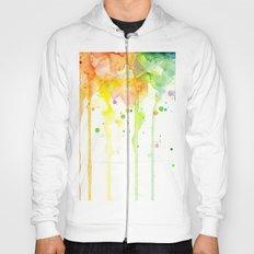 Rainbow Watercolor Pattern Texture Hoody