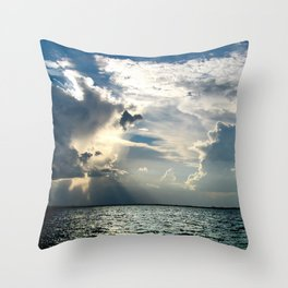 Coconut Grove Sailing Day Throw Pillow