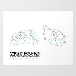 Cypress Mountain, BC, Canada - Minimalist Trail Art Art Print
