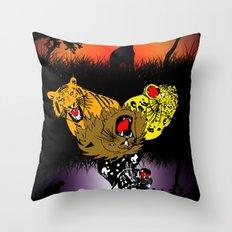 Big Cat Safari Throw Pillow