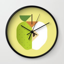 Fruit: Apple Golden Delicious Wall Clock