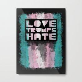 Trans* Pride design- Vertical Metal Print