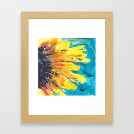 Free Flowing Sunflower Framed Art Print