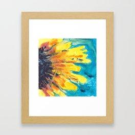 Free Flowing Sunflower Framed Art Print