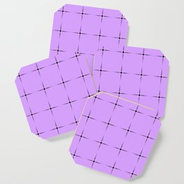 Glowing monochrome transparent stars on a violet background. Coaster