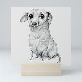 Monochrome Dachshund Mini Art Print
