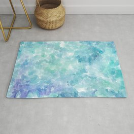 Blue Watercolor Background Rug