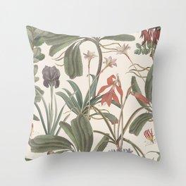 Botanical Stravaganza (variant). Throw Pillow