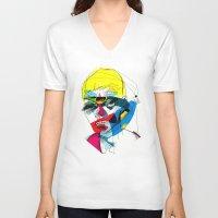 kandinsky V-neck T-shirts featuring 041112 by Alvaro Tapia Hidalgo