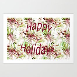 Happy Holidays to the staff and artists.... Art Print