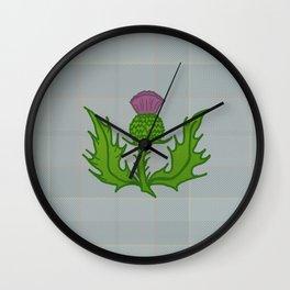 scotland thistle Wall Clock