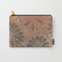 Agatized Coral Filtered Carry-All Pouch