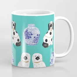 Staffordshire Dogs + Ginger Jars No. 2 Coffee Mug