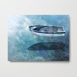 Floating Sunken Boat Metal Print