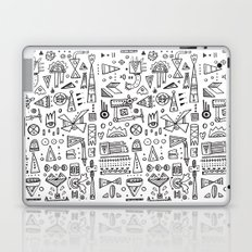 Triangle doodles Laptop & iPad Skin