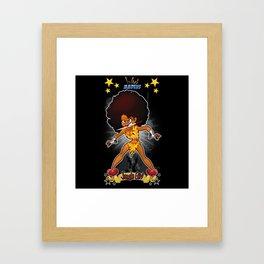 War Maiden - Jungle Girl Framed Art Print