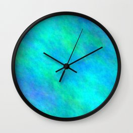 Dark Turquoise Color Wall Clock