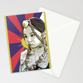 A little Tibetan girl Stationery Cards