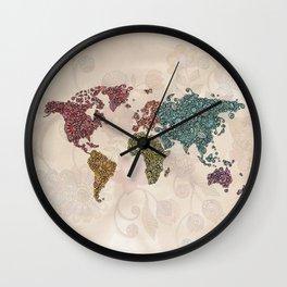 Paisley World Wall Clock