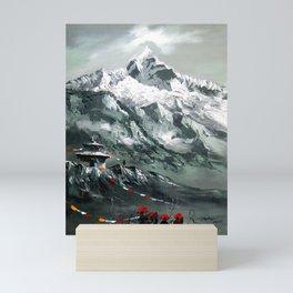 Panoramic View Of Mountain Everest Mini Art Print