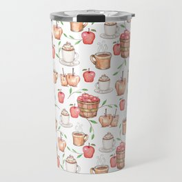All About Apples Pattern -Food Pattern Travel Mug