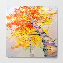 Heavenly birch Metal Print