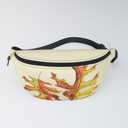 Ink And Watercolor Painted Dancing Autumn Leaves Fanny Pack
