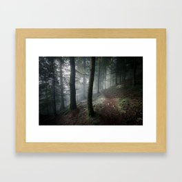 Me and my thoughts Framed Art Print