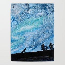 Wolvy Night Sky Poster