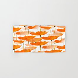 Orange Poppies On A White Background #decor #society6 #buyart Hand & Bath Towel