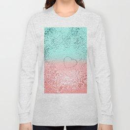 Summer Vibes Glitter Heart #1 #coral #mint #shiny #decor #art #society6 Long Sleeve T-shirt