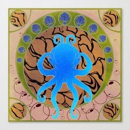 Octopus Nouveau  Canvas Print