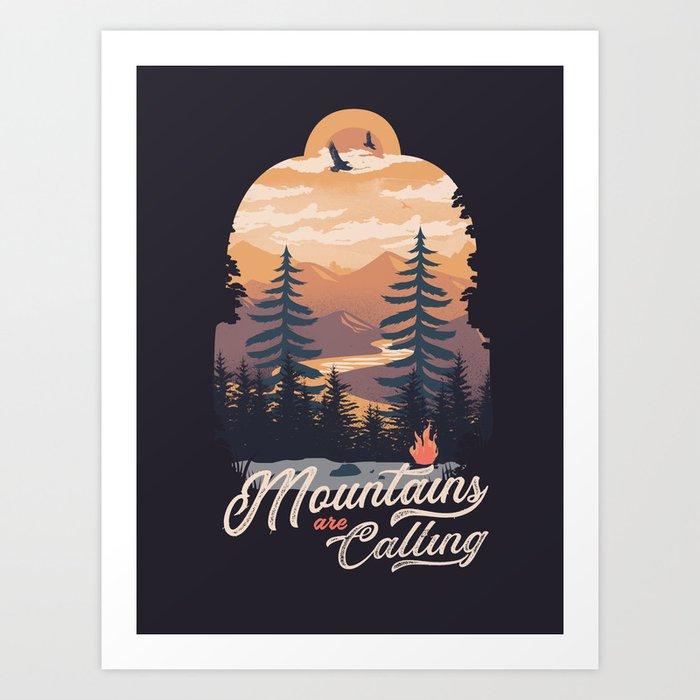 Camping Club Art Print