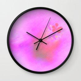Navy peony 39 Wall Clock