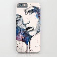 Window, watercolor & ink painting iPhone 6s Slim Case