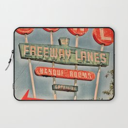 Freeway Lanes Bowl - Selma, CA Laptop Sleeve