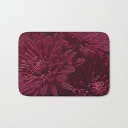 Burgundy Chrysanthemums Bath Mat