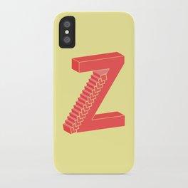 Z Typographic Illustration iPhone Case
