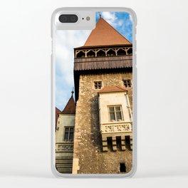Castle & Cloudscape Clear iPhone Case