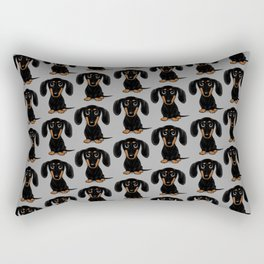 Black and Tan Shorthaired Dachshund Rectangular Pillow