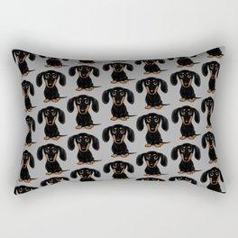 Black and Tan Shorthaired Dachshund Rectangular Pillow